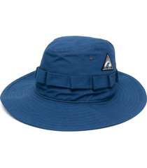jil sander drawstring hiking hat - blue