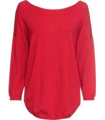 maglione con scollo a v sulla schiena (rosso) - bodyflirt