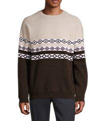 argyle wool & cashmere-blend sweater