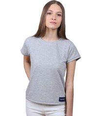 camiseta gris de algodón - domenica