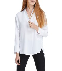 women's nic+zoe flowing ease blouse, size x-small - white