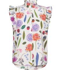 medora blouse mouwloos multi/patroon baum und pferdgarten