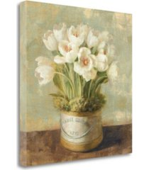 """tangletown fine art hatbox tulips - wag by danhui nai giclee print on gallery wrap canvas, 20"""" x 20"""""""