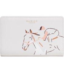 radley london radley racing leather bifold wallet