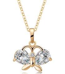 collana ciondolo moda oro farfalla zircone catena collana di fascino gioielli eleganti per le donne