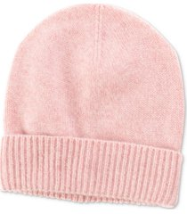 charter club women's cashmere cuffed beanie hat, created for macy's