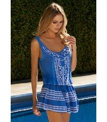 melissa odabash jaz dress royal blue/white