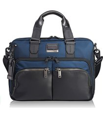 men's tumi alpha bravo - albany slim commuter briefcase -