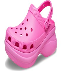 sandália crocs classic bae clog w rosa.