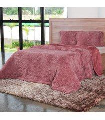 cobertor queen slim peles com porta travesseiro cameo - tessi - estampado - dafiti