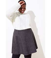 loft plus textured flippy skirt