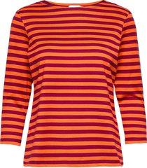 ilma shirt t-shirts & tops long-sleeved rood marimekko