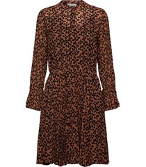 hilma dress korte jurk bruin second female