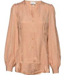 myagz blouse bz blouse lange mouwen bruin gestuz