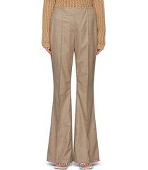 'murus' centre pleat wool twill wide leg pants