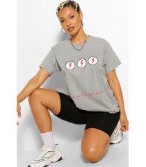 high voltage graphic t-shirt, grey