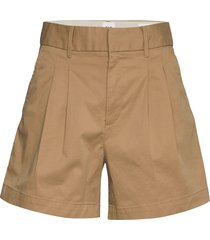5 pleated khaki short shorts chino shorts beige gap