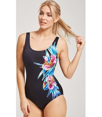 hybrid tropics scoopback ecolast one-piece swimsuit