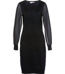 abito in maglia con maniche in chiffon (nero) - bpc selection