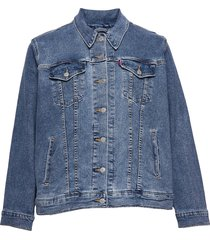 pl exboyfriend trucker soft as jeansjack denimjack blauw levi's plus