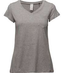 l. shirt s/slv top grå skiny