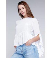 blusa manga campana koaj - blanco