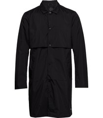 ams blauw clean trenchcoat in coated quality trench coat rock svart scotch & soda