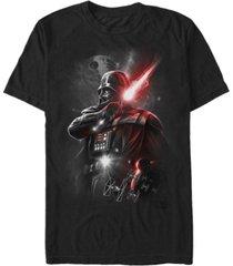 fifth sun men's star wars darth vader lightsaber portrait short sleeve t-shirt