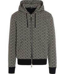 balmain monogram hoodie