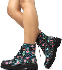 bota coturno damannu shoes kristy floral