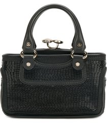 céline pre-owned 2000s pre-owned mini beaded tote - black