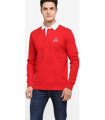 buzo rojo tommy hilfiger ryan rugby l/s