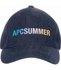 a.p.c. summer logo baseball cap