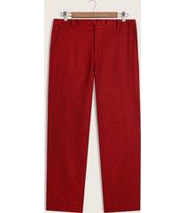pantalón lino slim fit coral 36