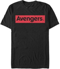 marvel men's avengers red logo short sleeve t-shirt