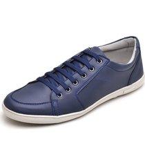 sapatenis casual esporte fino jna shoes azul luxo - azul marinho - masculino - dafiti