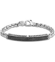 effy black sapphire cluster bracelet (1-7/8 ct. t.w.) in sterling silver