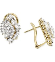 wrapped in love diamond cluster earrings (1 ct. t.w.) in 14k gold, created for macy's