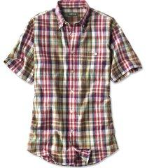 signature madras short-sleeved shirt