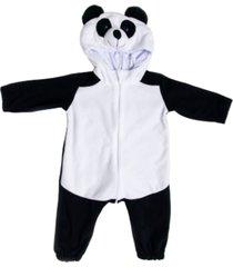 macacão pijama panda preto e branco multicolorido