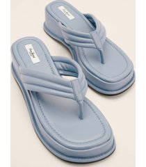 anna briand x na-kd platåsula flip flops - blue