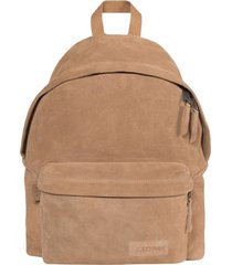 padded pak'r suede leather backpack