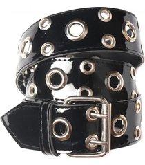 cinturón negro charol la vie est belts venecia