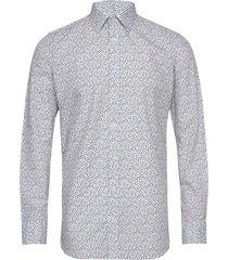 8598 - iver skjorta casual multi/mönstrad sand