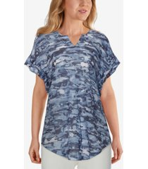 ruby rd. plus size knit chic camo top