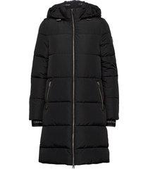 logo puffer coat gevoerde lange jas zwart calvin klein