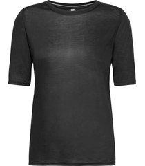 pzcarla t-shirt t-shirts & tops short-sleeved svart pulz jeans