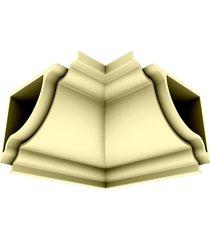 cantoneira rodaforro interna pvc plasbil premium, creme - 4 peças