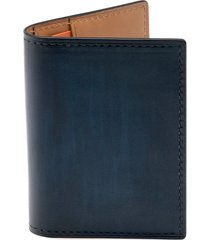 men's magnanni leather card case - blue