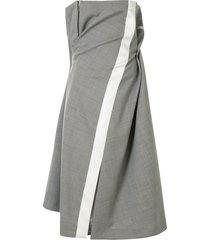 sacai draped hybrid dress - grey
